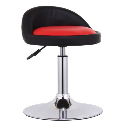 Round Styled Adjustable Leatherette Used Kitchen Red Bar Stools