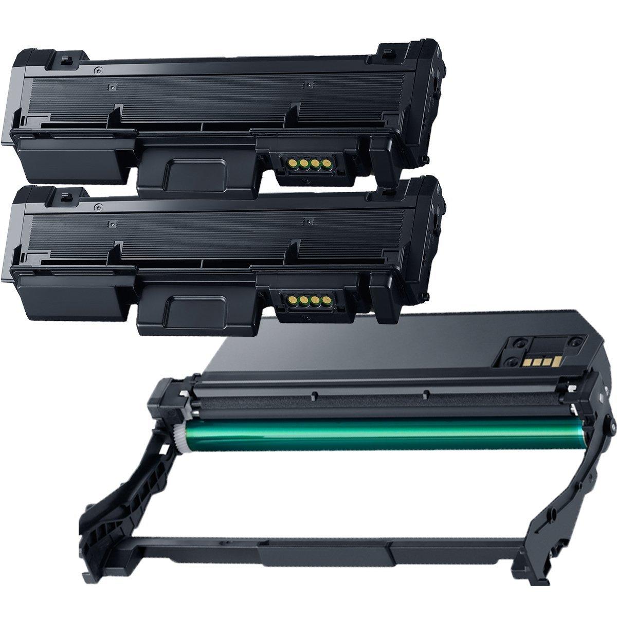 (1 Drum + 2 Toner) Inktoneram toner cartridges & drum Replacement for Samsung D116L R116 MLT-R116 MLT-D116L Xpress M2875 M2875FD M2876 M2625 M2625D M2626 M2825DW M2825ND M2826 M2675 M2675FN M2676