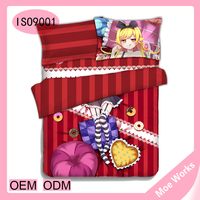 Cute Anime Monogatari Series Oshino Shinobu Cartoon Fabric Bedding Set Quilt Cover