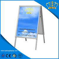 Outdoor Foldable double sided A frame advertising board, advertising sign
