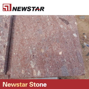 Newstar red granite cobble stones outdoor tiles for driveway