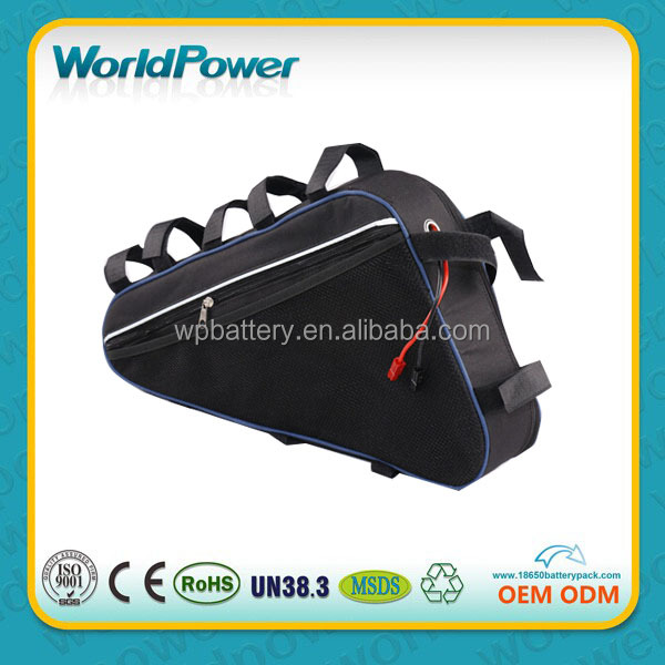 New model Downtube 48V 20AH triangle shape bag lithium battery pack for electric bicycle