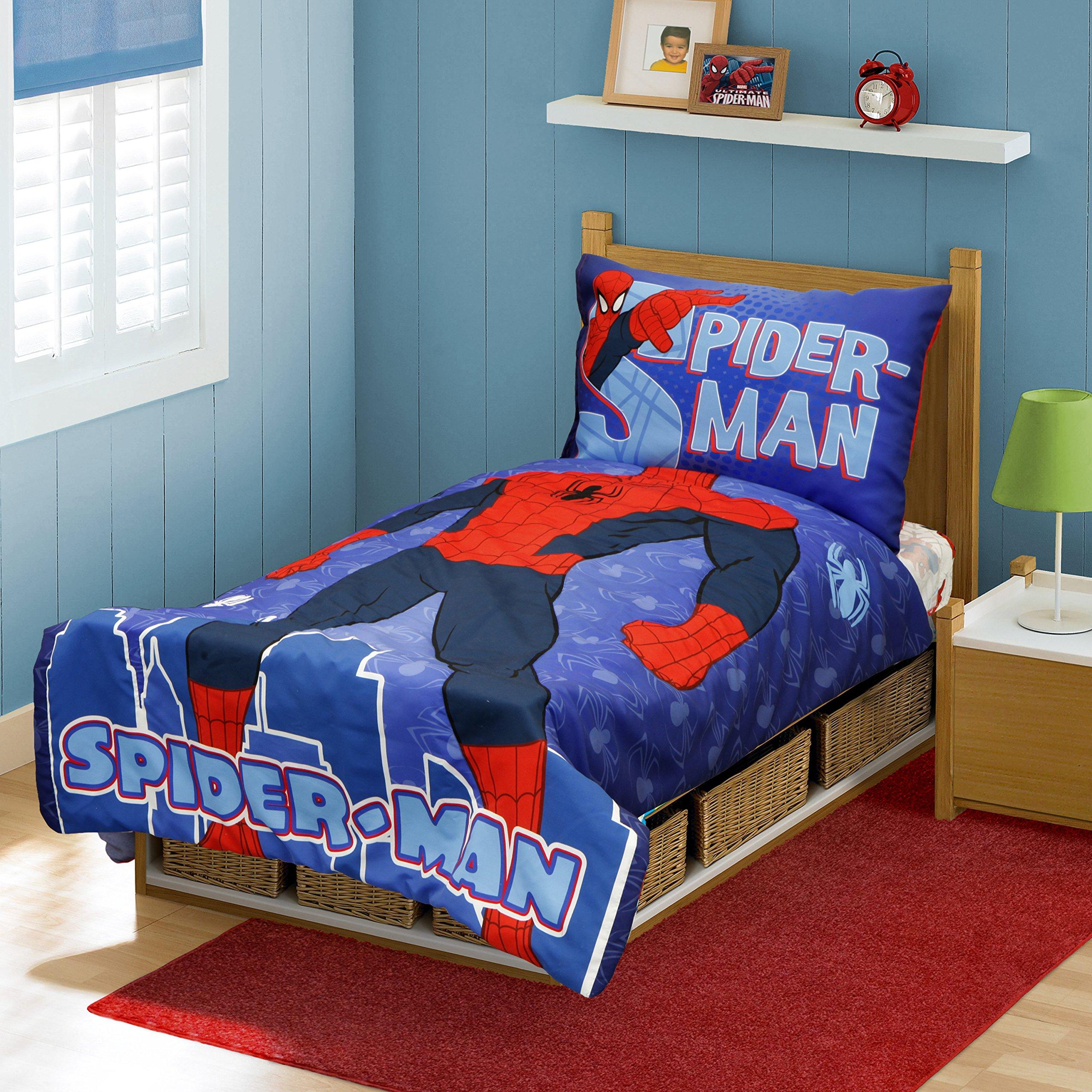 Get Quotations · Marvel Spiderman I Am Spiderman Toddler Bed Set, Multi
