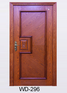 Front Safety Teak Wood Double Laminate Main Door Design View