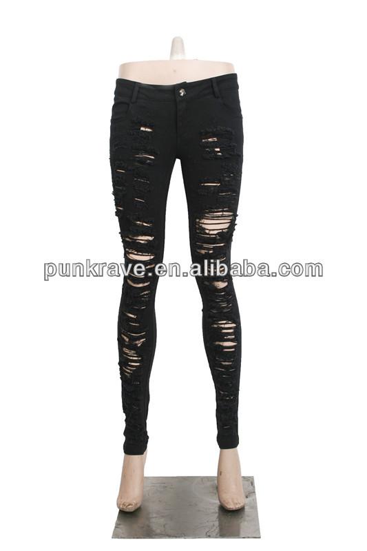 Pantalones Vaqueros Largos Negros Con Agujeros Rotos De K 134 Pantalones Y Pantalones Vaqueros De Mujer Al Por Mayor Buy Pantalones Largos Pantalones Vaqueros Largos Vaqueros Largos Negros Con Agujeros Product On Alibaba Com