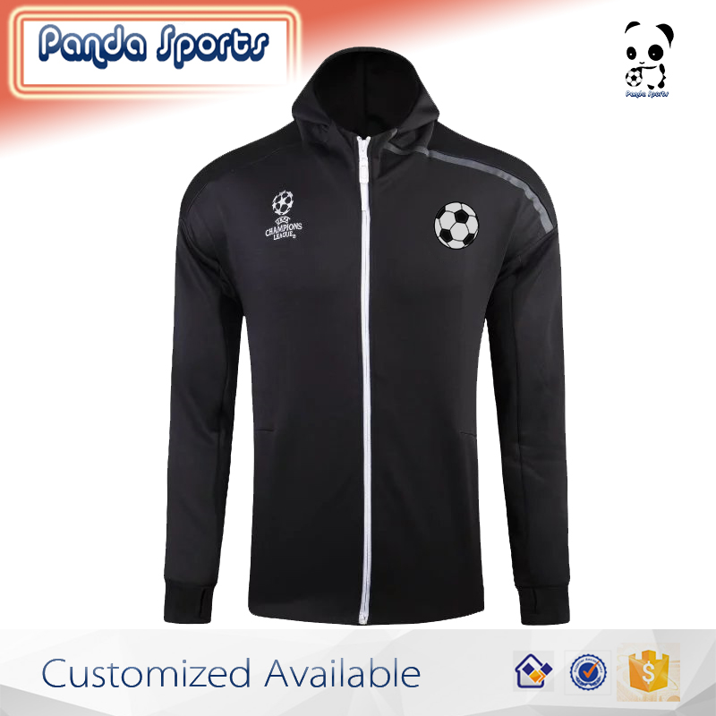 new style high quality soccer jacket football training hoodies