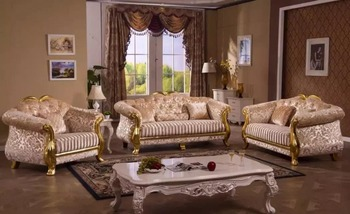 Etonnant Fancy Mediterranean Style Sofa Living Room Furniture Pictures Of Sofa  Designs