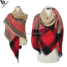 China Supplies Women Winter Woven Wholesale Square Scarf