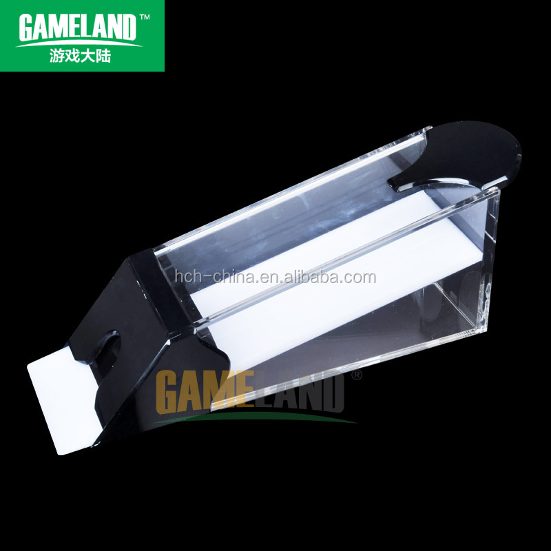 1-8 Deck Acrylic Dealing Card Shoe With Black Handle