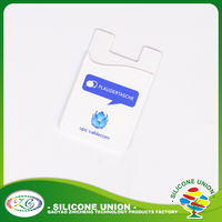 Accepted custom logo universal silicone phone case card holder