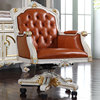 High end classic study room furniture hand carved chair furniture