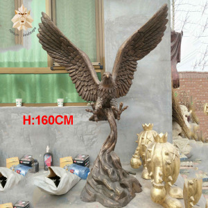 Metal casting large bronze eagle statue for sale in stock NTXH-003Y