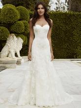 New Sexy A Line Wedding Dress 2016 Sweethearrt Backless Vestido de novia Applique Lace Court Train Gorgeous Bridal Gown YX143