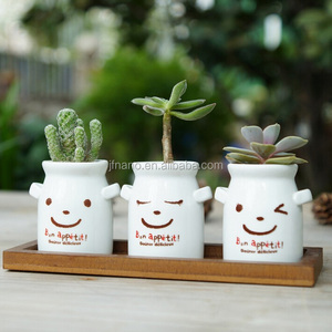 Hot sale milk bottle shape white ceramic creative succulents pots