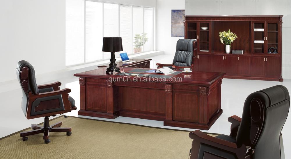 Mobilier de bureau classique européenne bureau fabriqué en chine