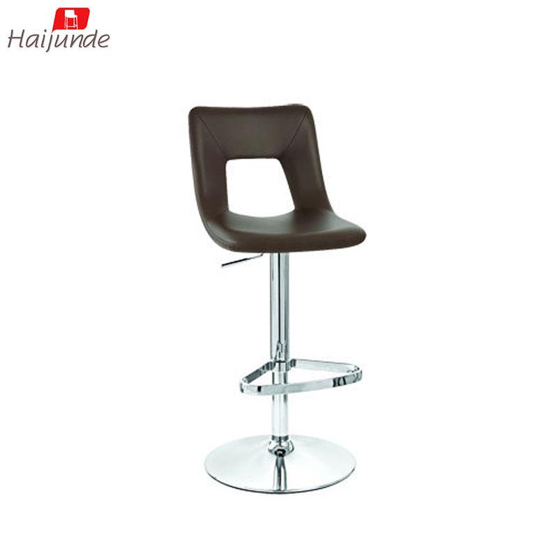 Low Back Metal Black Pu Footrest Extra High Adjustable Bar Stool