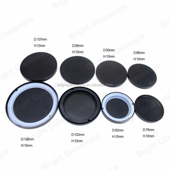 Factory Direct Custom Matte Black Metal Candle Lid With Silicone Gasket For Candle Glass