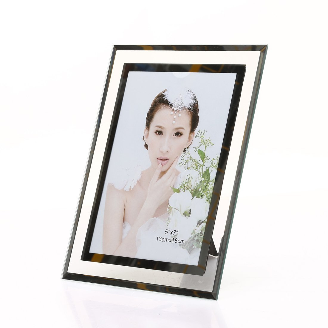 5x7-inch Glass Picture frame for Home Decor,Horizontal or Vertical Display