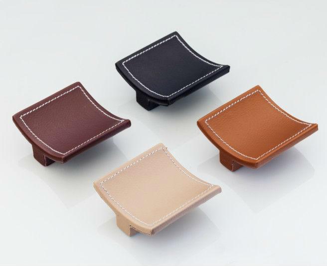 Petites tailles diff rentes couleurs de boutons de meuble - Poignee de meuble en cuir ...