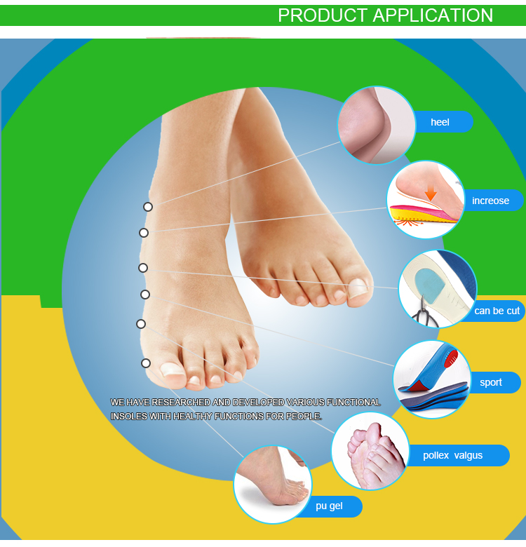 Factory direct selling Breathable durable EVA Memory Foam Insole for shoes