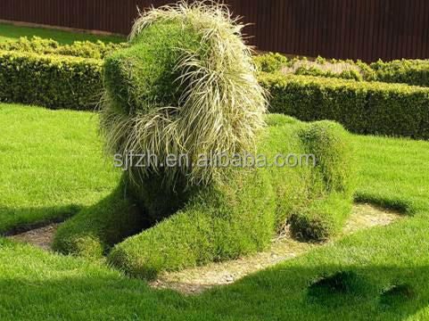 New style decorative artificial grass plants, dog statue with lovely style