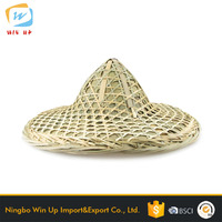 WINUP Cheap High Quality Palm Leaf Conical Hat Sun Hats