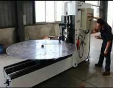 Oil storage tank dish end flanging machine