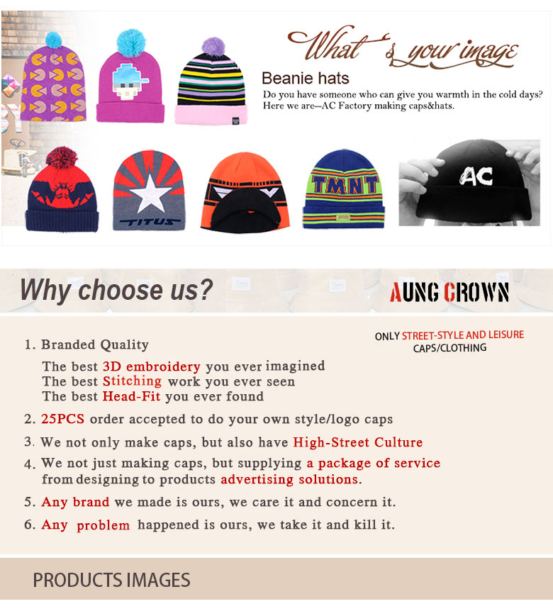 2bd37f336f0 Custom 100% Acrylic Jacquard Knit Beanies With Pom Wholesale Winter Hats  With Ball On Top