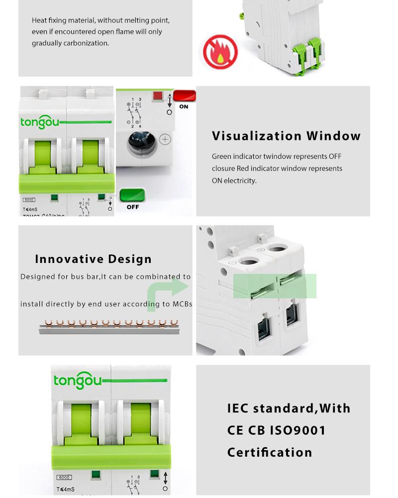 Mcb Dc 2p 63a 250v 500v 1000v Curve C Miniature Circuit Breaker For Solar Panels Pv System Buy Breakerdc Breaker1sm6 China Minicircuit
