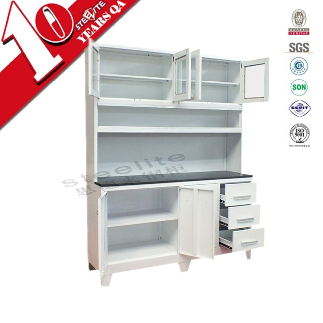 Luoyang steelite metal modular kitchen cabinets / home kitchen pantry cupboards