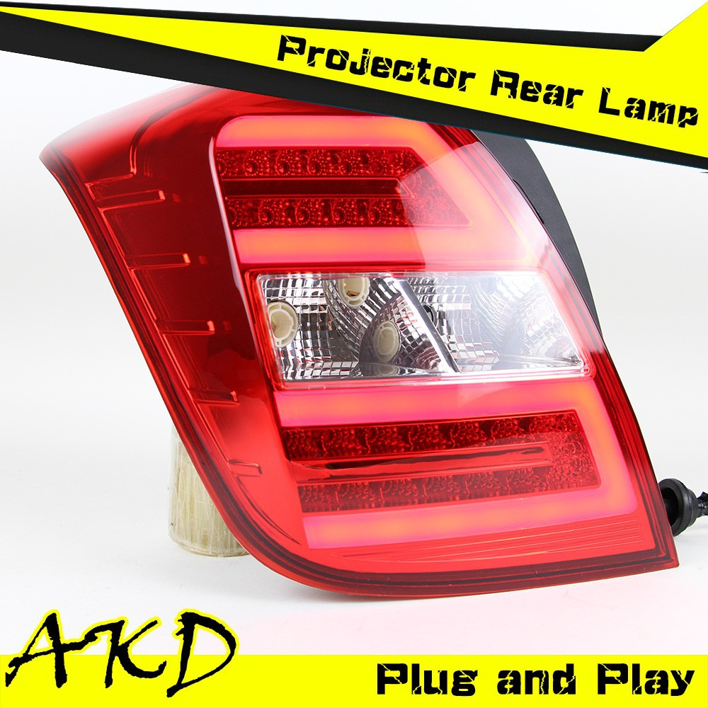 AKD Car Styling Chevrolet Tracker Tail Lights Trax LED Tail Light Tracker led Rear Trunk Lamp DRL+Turn Signal+Reverse+Brake