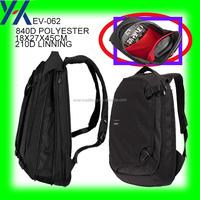 840D polyester computer kipl travel black backpack bag in china