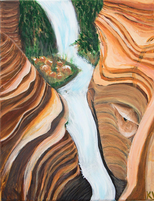 Original Painting Modern Art Acrylic Painting Decorative Art Wall Decor Nature Paintings Water Painting Landscape Painting Scenery Paintings Art For Sale Rainbow rocks