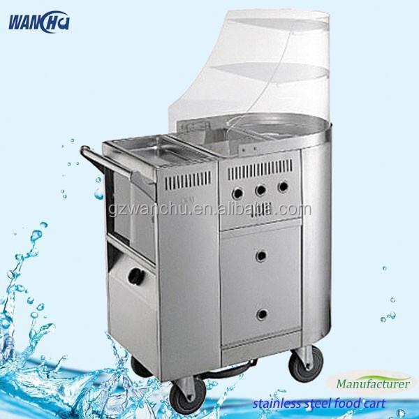 Mobile Gas Fryer Kfc Chicken Food Cartstainless Steel Frying Oil