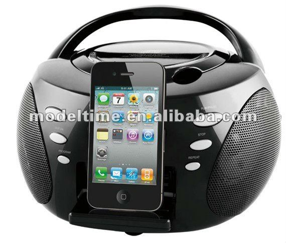 Mini CD Radio Boombox with Docking stations for iPhone iPod