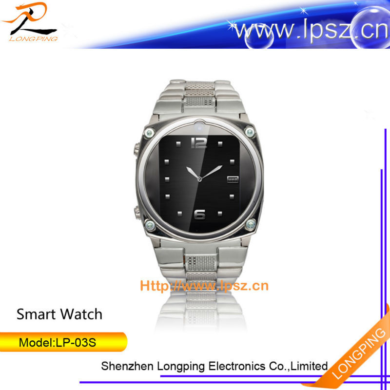 2014 hot selling bluetooth smart mobile phone watch for android and ios