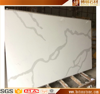 BOTON Wholesaler on sale Calacatta white Quartz slab on hot sale