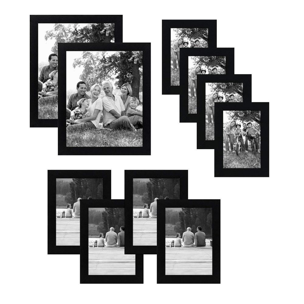 Black picture frames multi pack best 10 pack gallery wall set photo frames