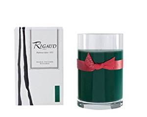 """Rigaud Paris, Cypres Large Candle Recharge (Refill) Bougie D'ambiance Parfumee, """"Grand Modele Recharge"""" in Glass, Green, 4.5"""" Tall, 90 Hours, Made in France"""