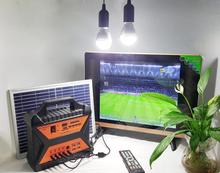 Portable sun green power off grid good quality panel kit 12v dc solar tv
