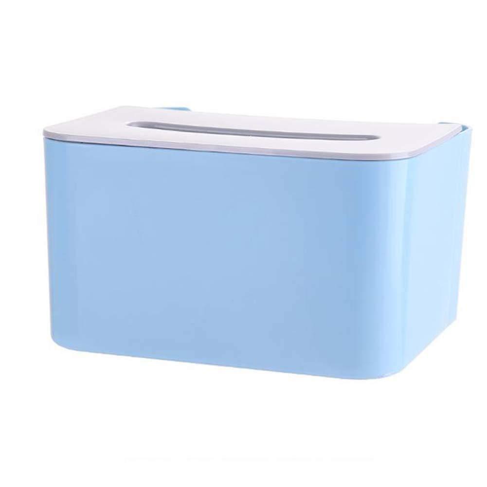 HUPLUE Tissue Box Cover, Phone Holder Remote Control Storage Box Cosmetics/Makeup Organizer Office Supplies Storage Box