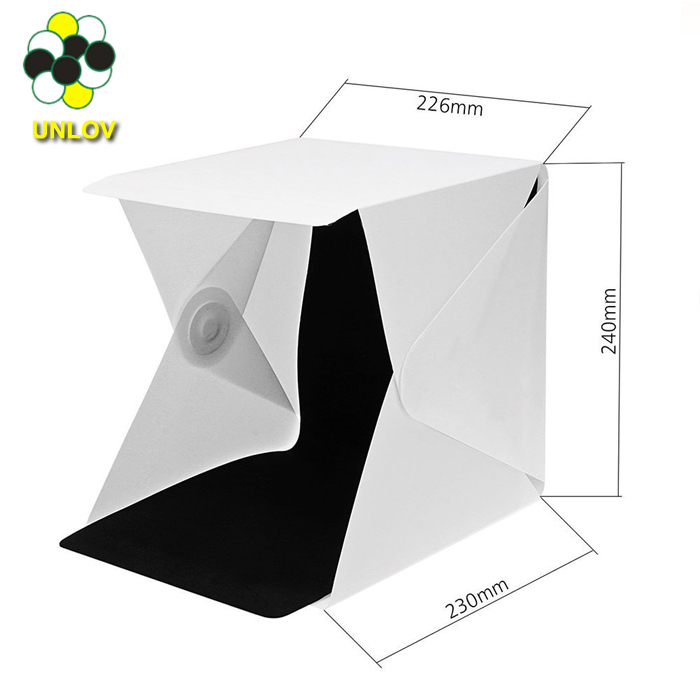 Mini Folding Detachable Photo Studio Portable LED Light Box Photography Studio With White/Black Backgrounds