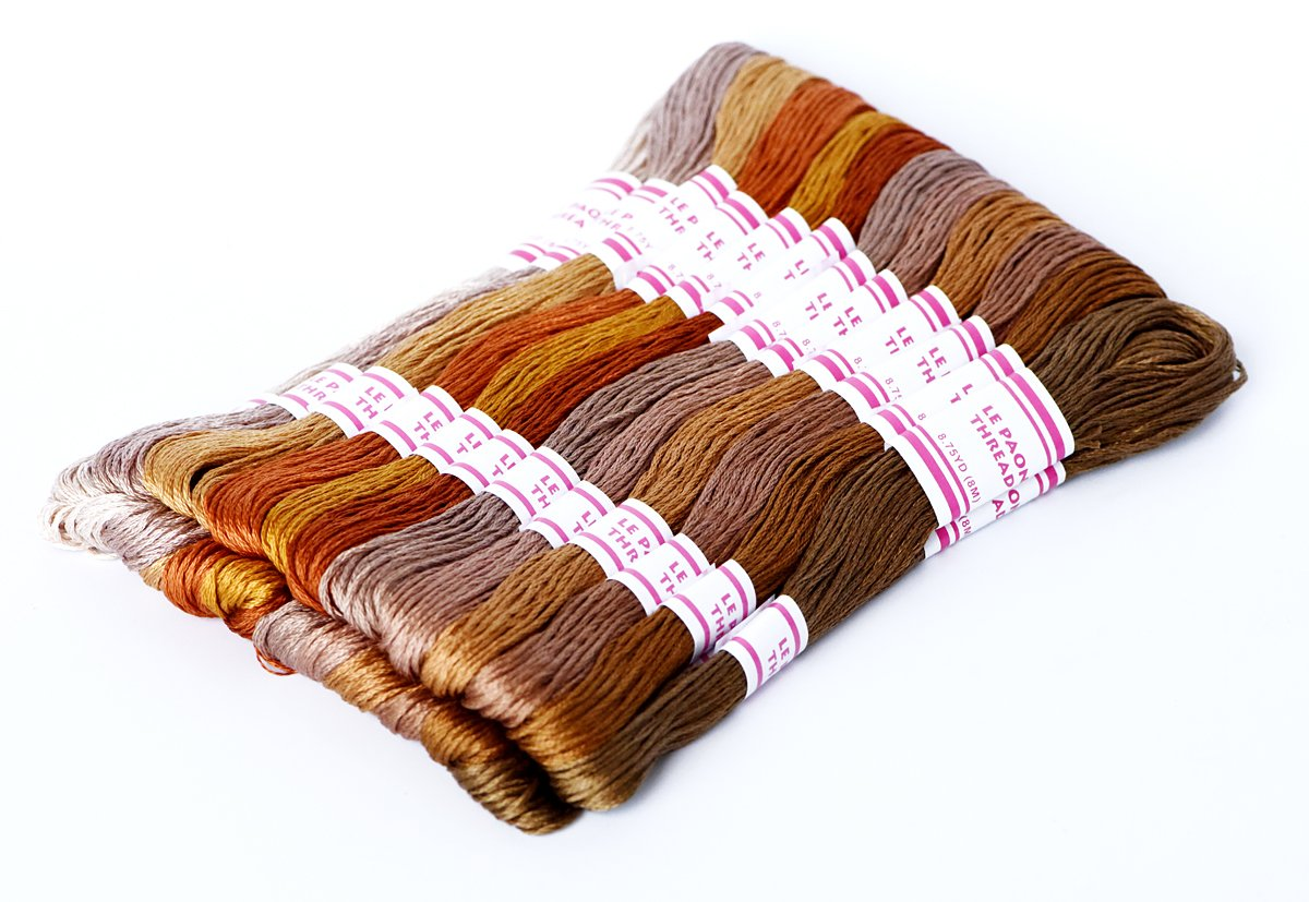 Ohlily 100 Skeins of Embroidery Floss 8M Soft Cotton Cross Stitch Threads Sewing Art Multi-color