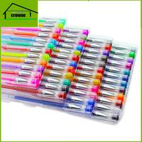 Artist High Quality 48 Gel Pen Set of Multi-color Gel Ink Pen With Transparent Case