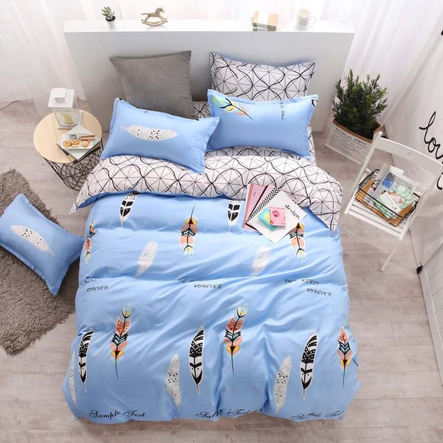 Blue Comforter Sets Bedding Sheets Set With Good Quality