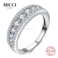 Beautiful diamond fashion ring 925 sterling silver cz diamond paved vintage engagement jewelry rings