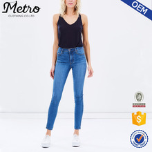 Hot Verkopen Hoge Waisted ontwerp Vrouwen Denim Skinny <span class=keywords><strong>Jeans</strong></span>