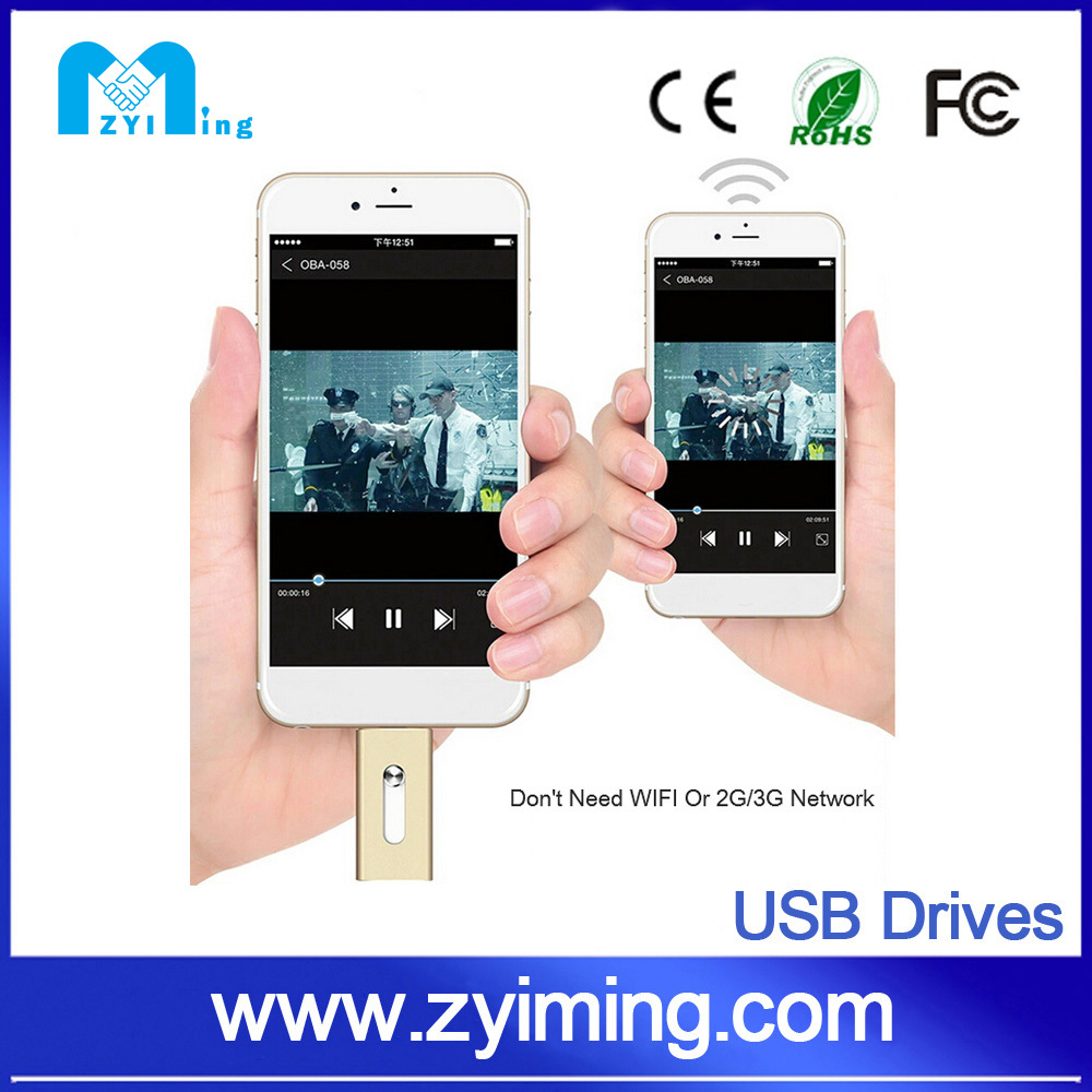 Zyiming Mini and compact design USB flash disk drive 2 in 1s 2tb otg iflash drives wholesale