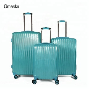 3pcs Set Hard Shell Luggage Stock PC Trolley Suitcase Factory Price
