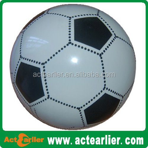 2015 hot selling plastic balls inflatable pvc soccer toy balls